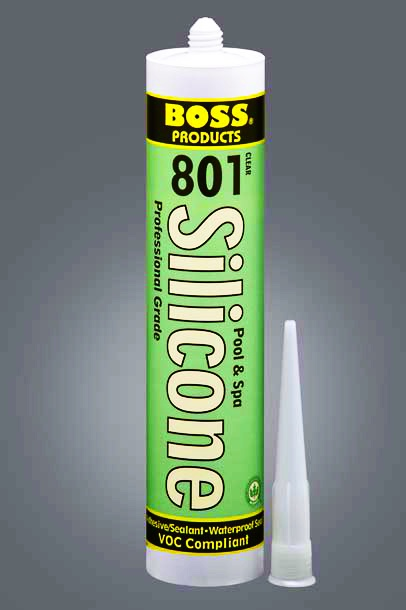 Boss 801 Grey Pool Spa Neutral Cure Silicone Adhesive 1 Case Of 12