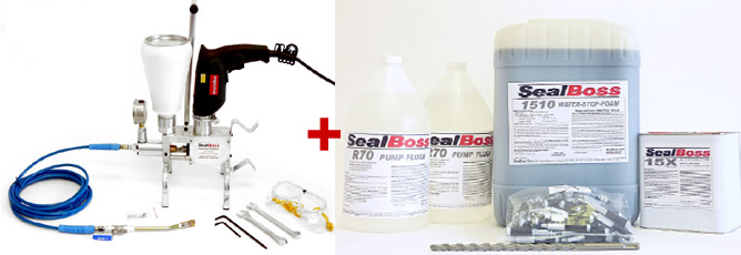 Water Stopper Kit : Sealboss polyurethane grout water stopper injection kit