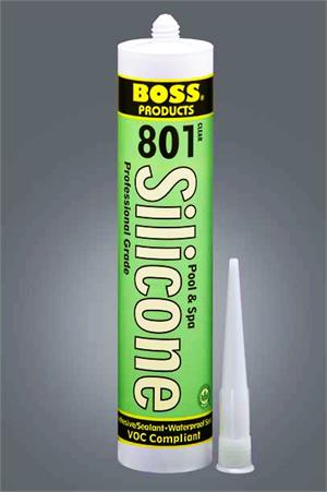 Boss 801 Grey Pool Amp Spa Neutral Cure Silicone Adhesive 1
